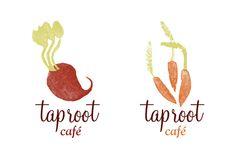 Taproot Cafe by Ryan Jones, via Behance Packaging Design, Branding Design, Logo Design, Ryan Jones, Potato Stamp, Farm Logo, Logo Google, Grafik Design, Ad Design