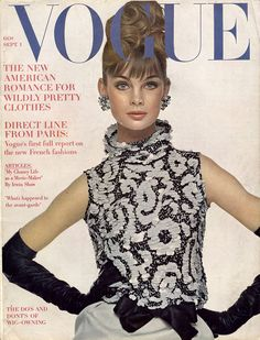 Jean Shrimpton on the cover of Vogue, September 1, 1963