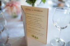 pretty watercolor and calligraphy like wedding programs