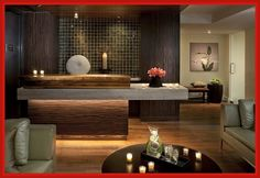 Modern Spa Reception Desk Design                                                                                                                                                                                 More