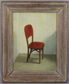 1950-Vintage-Mid-Century-Henry-De-Geofroy-Still-Life-Oil-Painting