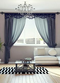 40 Amazing Woodworking Curtains Ideas – Decor Units in 2020 Bedroom Curtains With Blinds, Fancy Curtains, Elegant Curtains, Curtains Living, Elegant Living Room, Living Room Modern, Living Room Decor, Bedroom Decor, Bedroom Bed Design
