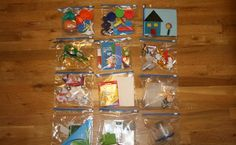 After reading Megret's post about Preschool Activity Bags , I started thinking about making toddler activity bags. Since we are going to the...