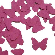 Berry Purple Butterfly Shaped Plantable Seed Paper Confetti from Daisy Giggles