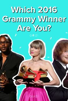Which 2016 Grammy Winner are you  Take this quiz and find out today! 0877af136491