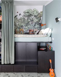 Genius Small Bedroom Trick That Works for Kids & Adults This Built-In Bed Idea Creates More Space for Toys Kids Bedroom Furniture, Home Furniture, Bedroom Decor, Furniture Stores, Bedroom Sets, Rustic Furniture, Office Furniture, Antique Furniture, Furniture Ideas