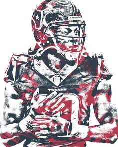 DeAndre Hopkins HOUSTON TEXANS PIXEL ART 99 Art Print by Joe Hamilton. Houston Texans Football, Football Art, Texas Nfl, Football Helmets, Denver Broncos, Pittsburgh Steelers, Dallas Cowboys, Sports Art, Nfl Sports