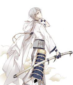 Tsurumaru the sword Touken Ranbu, Katana, Character Art, Character Design, Devian Art, Rurouni Kenshin, Guy Drawing, Cute Anime Guys, Shiro