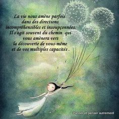 La vie et ces directions incompréhensibles. Positive Life, Positive Attitude, Image Club, French Expressions, French Quotes, Meaningful Life, Entrepreneur Quotes, More Than Words, Positive Affirmations