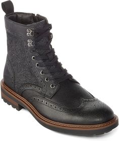 COLLECTION Collection by Michael Strahan Horatio Mens Lace-Up Dress Boots