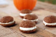Pumpkin Whoopie Pies with Maple Cream Cheese Filling | The Merrythought