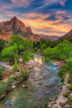Beautiful Places To Travel, Wonderful Places, Amazing Places, Zion National Park, National Parks, Fantasy Places, Best Sunset, Nature Photography, Park Photography