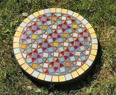 Mosaic stepping stone idea