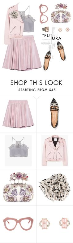"""""""Pink me!"""" by pensivepeacock ❤ liked on Polyvore featuring 2NDDAY, Tory Burch, MANGO, Alexander McQueen, Chanel, Karen Walker and David Yurman"""