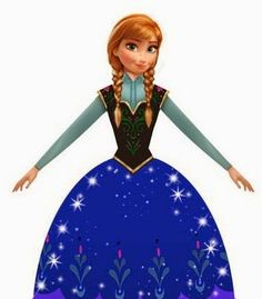 Frozen: Caja con forma de Vestido de Ana, para Imprimir Gratis.   Ideas y material gratis para fiestas y celebraciones Oh My Fiesta!