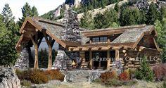 Caribou log home floorplan
