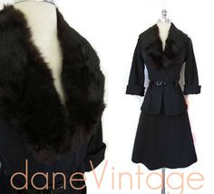 Mod Vintage 60s 70s Chocolate FUR Bombshell Wiggle by danevintage, $65.00