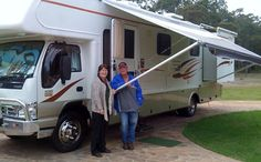 Ash & Wendy with their Motorhome