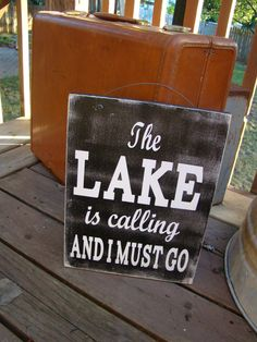 "This is a fun sign to hang at your lake house, or just on your porch at home. The words are painted (no vinyl). The sign measures approximately 11.5"" wide by 15"" high and is made of distressed wood (Pine) and a wax finish. Includes an attached wire hanger to display it with ease.Please..."