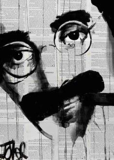 "Saatchi Art Artist LOUI JOVER; Drawing, ""groucho"" #art"