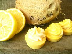 Coconut Lemongrass Miniature Cupcake Soap cold by TheSudsCafe, $4.99