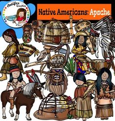 Native American clip art-Apache contains 34 image files, which includes 17 color images and 17 black & white images in png.Native American clip art-Apache includes:A Blessing StaffApache Antler Handle Stone KnifeApache Ceremonial DrumApache CradleboardApache FiddleApache Girl With BasketApache Headdress.Apache Medicine BagApache Musician Playing The Apache FiddleApache WarriorApache Woman And ChildApache WomanCoyote Medicine RattleDeer Hoof Turtle Shell RattleMoccasinsWickiup1Wickiup2This...