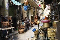 Attarine Souq (the Zinqat-al-Sittat market) in Alexandria