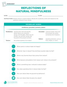 Reflections of Natural Mindfulness - FLEX Resource