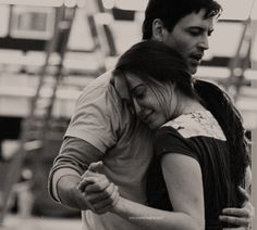 """Sean Palmer as Prince Eric and Sierra Boggess as Ariel in rehearsal for Disney's """"The Little Mermaid"""" (2008)"""