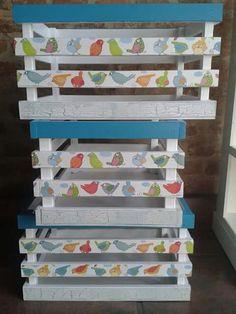 Mueble para ni os con cajones reciclados cajones de - Cajones guarda juguetes ...