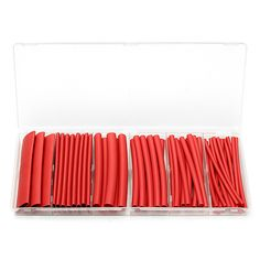 Heat Shrink Tube Sleeving 6 Sizes 53Pcs Adhesive Lined Red. Description :  53pcs 3 : 1 Dual-Wall Adhesive Lined Red Heat Shrink Tube Sleeving 6 Sizes  Specification :   Color : Red Length : 100mm This product has a 3 : 1 shrink ratio and is both UL & CSA certified for up to 600V @125 Degree Centigrade.   Product is also RoHS Compliant.   High expansion ratio makes it possible to repair most damaged cable jackets without removing connectors.  16pcs x 100mm lengths 3.2mm 12pcs x 100mm…