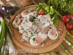Frankfurti saláta recept Frankfurt, Potato Salad, Potatoes, Chicken, Meat, Ethnic Recipes, Food, Potato, Essen