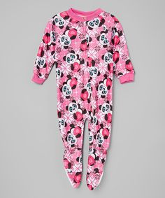 Another great find on #zulily! Pink Panda Footie - Infant, Toddler & Girls by 1000% Cute #zulilyfinds