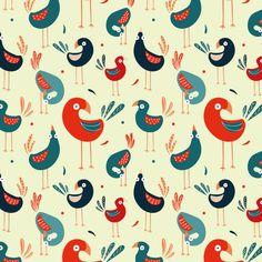 Pattern Design - Birds by Sonja Stangl