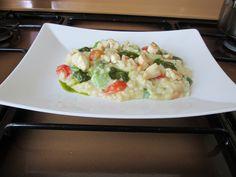 Risotto  pollo   verdure  pesto di basilico e  salsa al curry Gino D'Aquino  =)(/&/()(/  <^>  <->