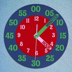Great idea to prevent getting confused between hours and minutes when telling time.