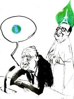 Le dessin du jour de tOad : vive la planète, vive l'humanité et vive la vie - Crédit illustration : tOad - En images  /  Climat - Terra Eco