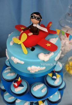 Airplane Cake and Cupcakes by Verusca.deviantart.com on @deviantART