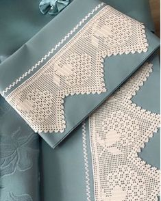 Crochet Blanket Border, Crochet Edging Patterns, Bead Embroidery Patterns, Crochet Borders, Filet Crochet, Baby Knitting Patterns, Embroidery Designs, Hand Embroidery Dress, Ribbon Embroidery