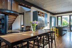 Oranjezicht Extension   Bm-architects   Cape Town Industrial Architecture, Victorian Homes, Cape Town, Pavilion, Architects, Kitchen Design, This Is Us, Kitchens, Building