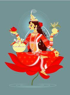 Lakshmi and saraswati Saraswati Goddess, Goddess Art, Durga, Pichwai Paintings, Indian Art Paintings, Saraswati Painting, Madhubani Painting, Hindu Art, Shiva Hindu