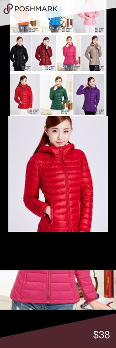 LIMITED SALE! HIGH QUALITY WINTER JACKET VERY NICE Cheap cute lightweight jacket for winter 100% nylon 100%  polyester. I have (Black, Red, and Green).  Please feel free to ask if you have any question. Jackets & Coats Jean Jackets
