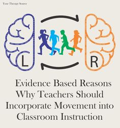 3 Evidence Based Reasons to Incorporate Movement into Classroom Instruction - Your Therapy Source Movement Activities, Therapy Activities, Physical Activities, Therapy Ideas, Motor Activities, Physical Education, Mindfulness Activities, Music Activities, Pediatric Occupational Therapy