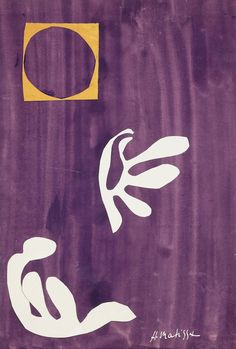 dappledwithshadow:Tahitian Harmony, Henri Matisse, s.d. Paper cut-out and gouache