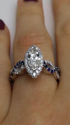 Marquise Diamond Halo Infinity Engagement Ring