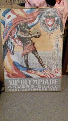 Vanha Olympia 1920 posteri taulu halvalla