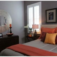 Delightful Orange Accents In Bedrooms