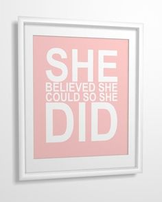 If you believe, you CAN do it!