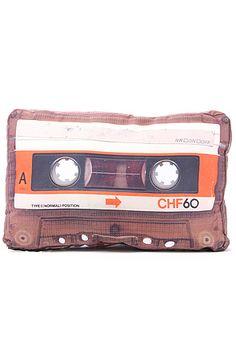 The DCI Cassette Tape Retro Pillow : Karmaloop.com