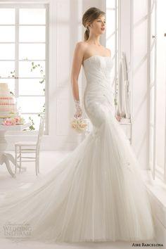 Aire Barcelona 2015 Strapless Wedding Dresses | Wedding Inspirasi